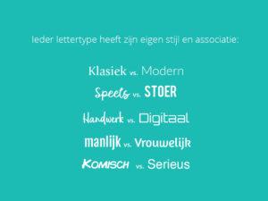 Lettertype associaties