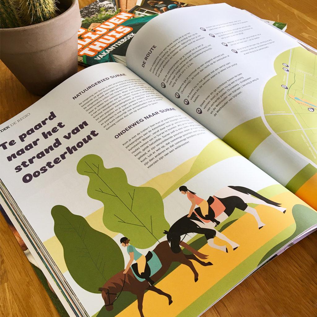 Illustraties vakantieboek