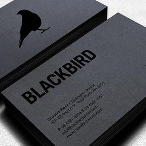 bijzonder drukwerk = zwart papier
