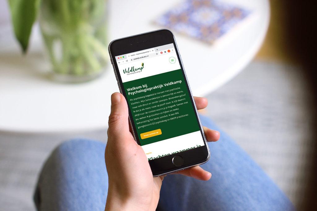 Responsive website voor Praktijk Veldkamp