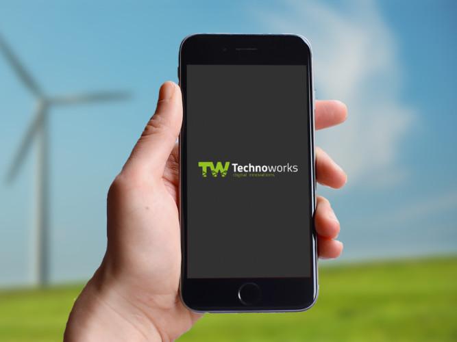 Logo TechnoWorks mock up